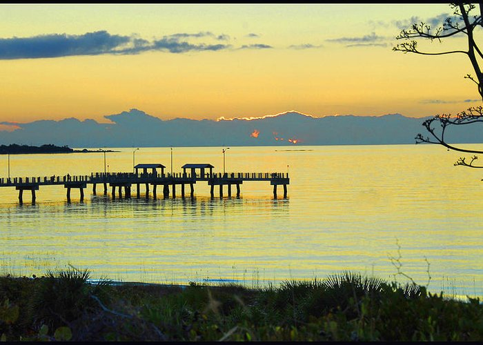Sunset Greeting Card featuring the photograph Relaxing Night In Fl by Madlyn Blom