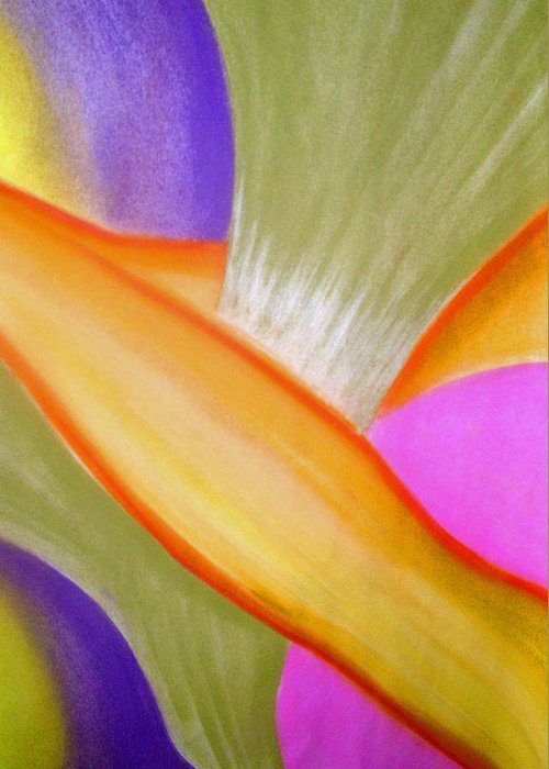 Abstract Greeting Card featuring the drawing Release And Let Go by Jan Gilmore