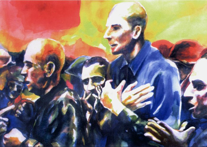 Karl Greeting Card featuring the painting Release And Redemption by Karl Frey