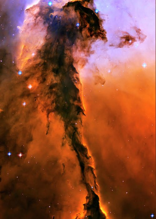 Outer Space Greeting Card featuring the photograph Release - Eagle Nebula 1 by Jennifer Rondinelli Reilly - Fine Art Photography