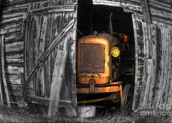 Vehicle Greeting Card featuring the photograph Relic From Past Times by Heiko Koehrer-Wagner