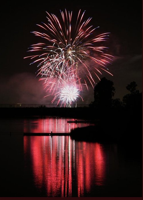 Fireworks Greeting Card featuring the photograph Remember by KC Moffatt