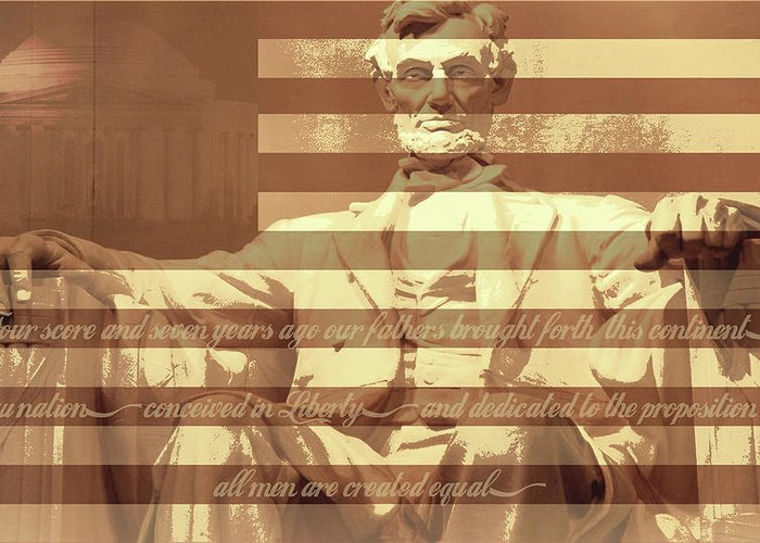 Abraham Lincoln Greeting Card featuring the digital art Remember Me by Christopher Adkins