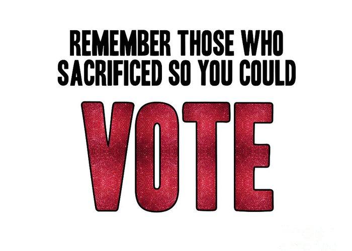 Voters Digital Art Greeting Cards
