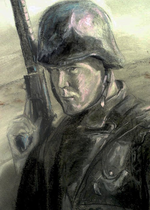 Military Greeting Card featuring the drawing Remember by Tommy Winn