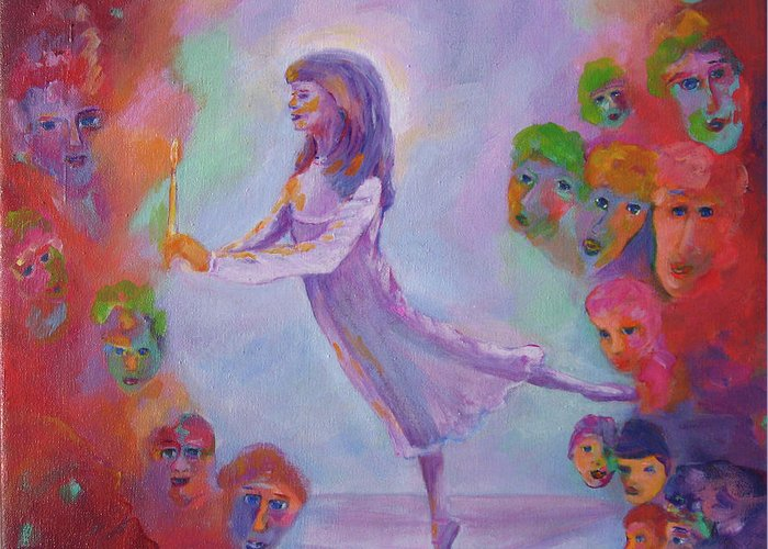 Child Remembering Greeting Card featuring the painting Remembering The Nutcracker by Naomi Gerrard