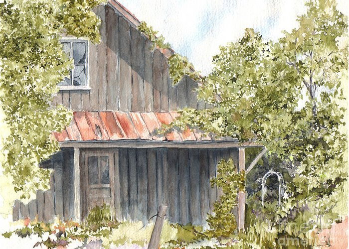 Old House Greeting Card featuring the painting Remembrance by Jackie Mueller-Jones