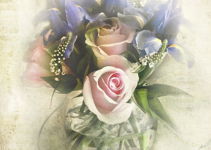 Bouquet Greeting Card featuring the photograph Reminiscence by Elena Nosyreva