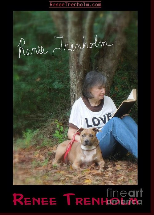 Autographed Greeting Card featuring the photograph Renee Trenholm . Signed by Renee Trenholm