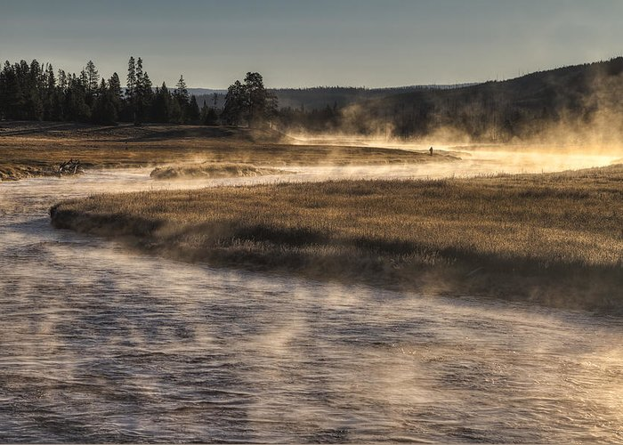 Yellowstone National Park Greeting Card featuring the photograph Repose Of Nature by Mark Kiver