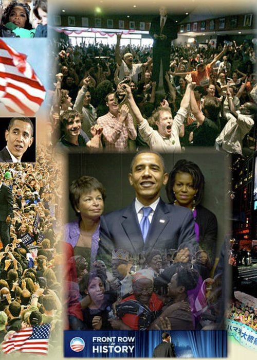 Barack Greeting Card featuring the digital art Respectfully Yours..... Mr. President by Terry Wallace
