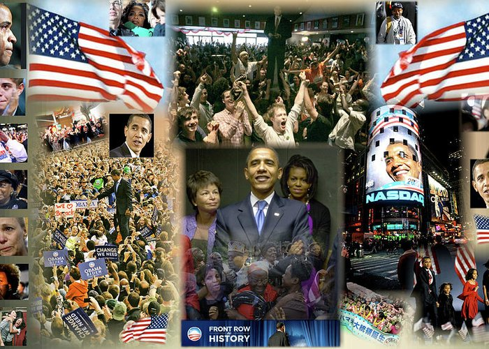 Malia Obama Digital Art Greeting Cards