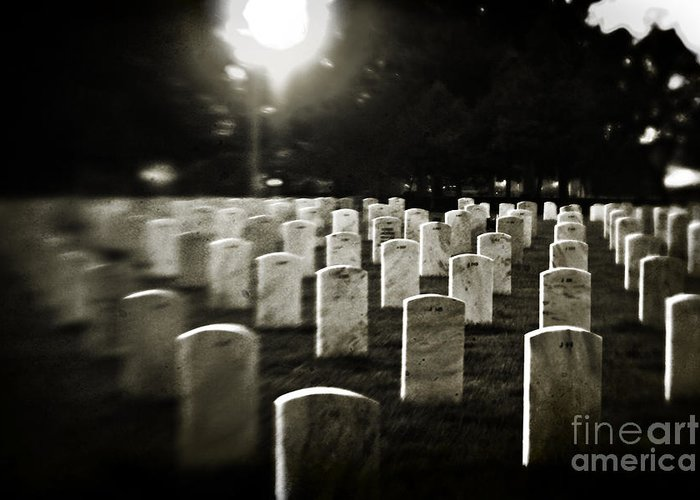 Cemetery Greeting Card featuring the photograph Resting Place by Scott Pellegrin