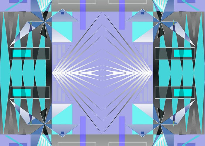 Abstract Greeting Card featuring the digital art Restless Nights - IIi by Jo Baby
