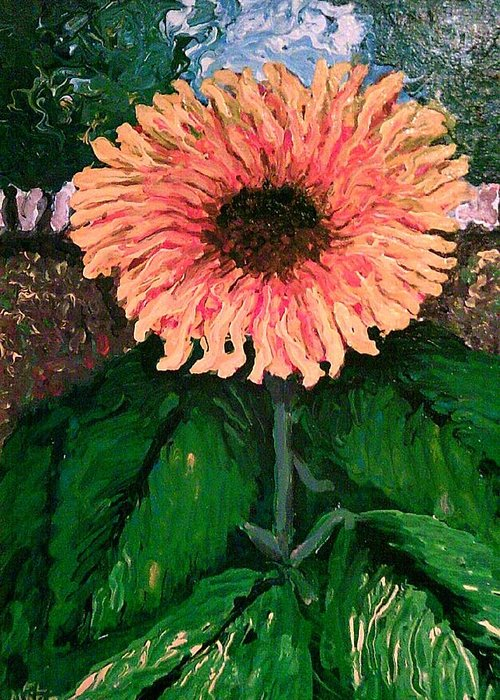 Impressionist Sunflower Greeting Card featuring the painting Resurrection by Frank Morrison