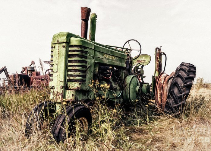 Alberta Greeting Card featuring the photograph Retired by Brad Allen Fine Art