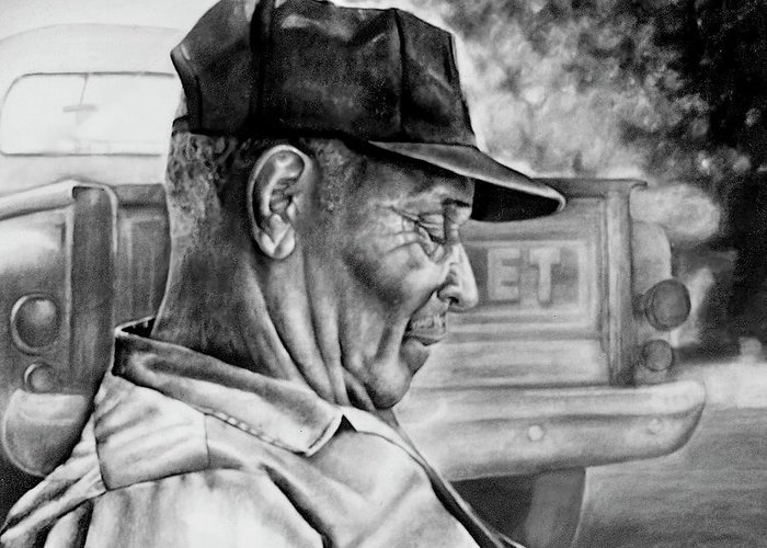 Man Greeting Card featuring the drawing Retired by Curtis James