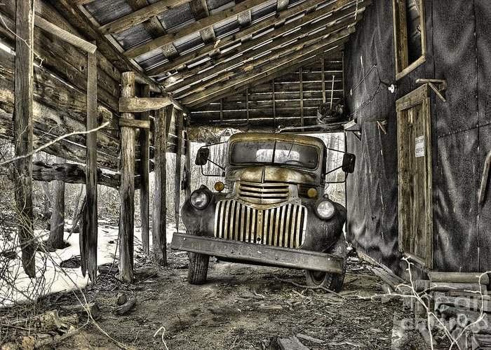 1941 Chevrolet Truck Greeting Card featuring the photograph Retired by Sari Sauls