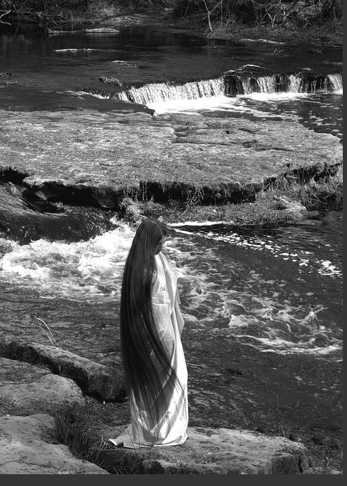 Woman Greeting Card featuring the photograph Return To The Falls by Debbie May