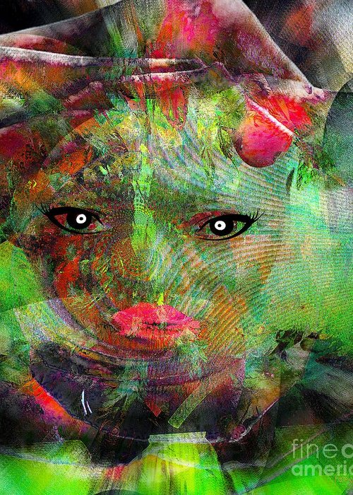 Fania Simon Greeting Card featuring the mixed media Revenante - Sent By The Elders by Fania Simon