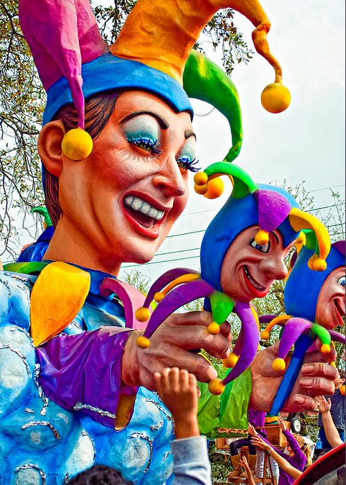 New Orleans Greeting Card featuring the photograph Rex Mardi Gras Parade Xi by Steve Harrington