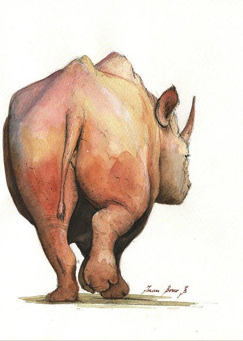 Rhinos Greeting Cards