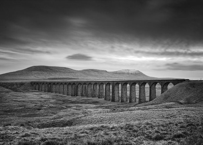 Landscape Greeting Card featuring the photograph Ribblehead Viaduct Uk by Ian Barber