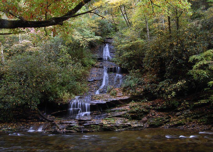 Water Fall Greeting Card featuring the photograph Richard Falls by Greg Straub