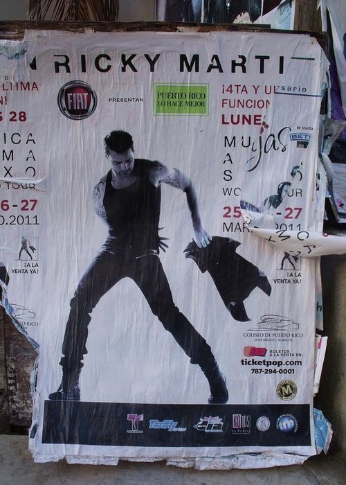Ricky Martin Greeting Card featuring the photograph Ricky Martin In Concert by Anna Villarreal Garbis