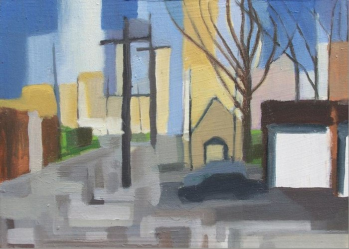 Painting Greeting Card featuring the painting Ridgefield Again by Ron Erickson