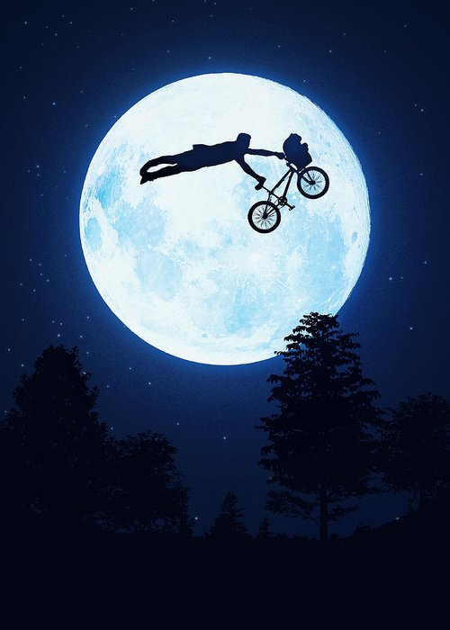 Cool Greeting Card featuring the digital art Riding The Kuwahara Bmx Like A Boss by Philipp Rietz