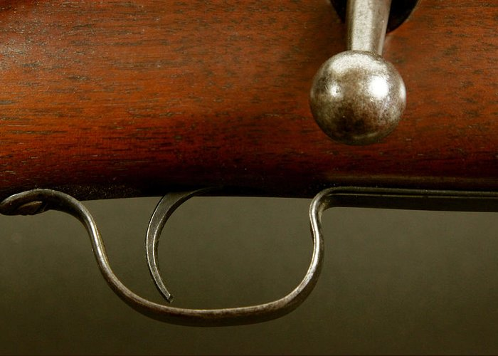 Rifle Greeting Card featuring the photograph Rifle Study by Kitty Ellis