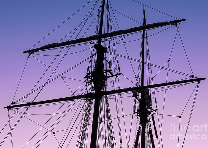 Tall Ships Greeting Card featuring the photograph Rigged And Ready by Christopher Marona