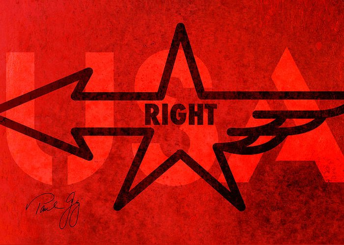 Right Wing Greeting Card featuring the mixed media Right Wing by Paul Gaj
