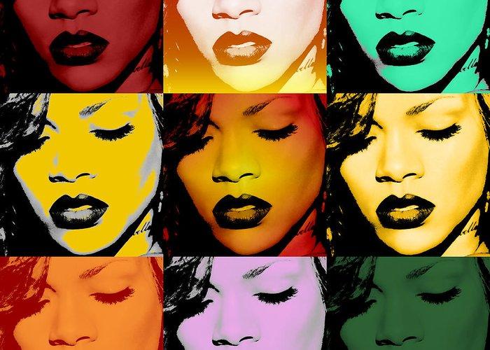 Rihanna Greeting Cards
