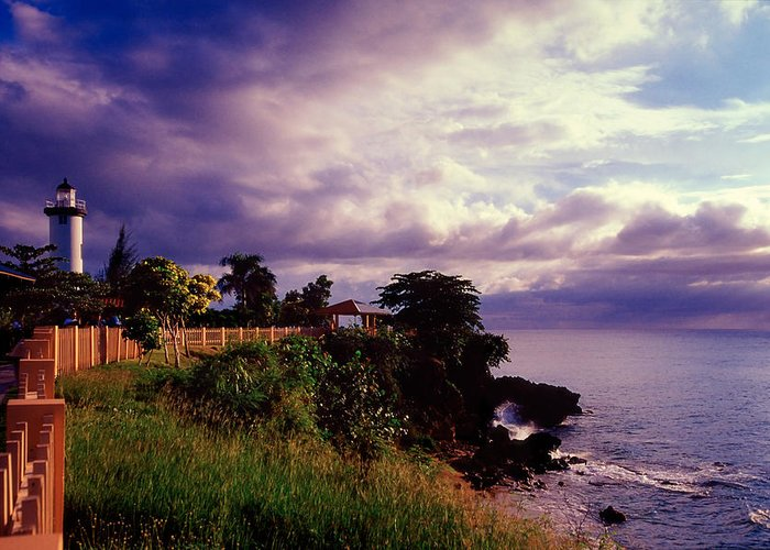 Architecture Greeting Card featuring the photograph Rincon Lighthouse Puerto Rico by George Oze