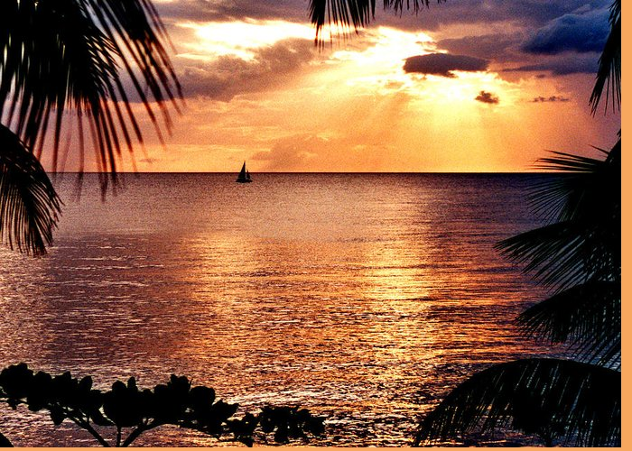Rincon Greeting Card featuring the photograph Rincon Sunset by Michael Cryer