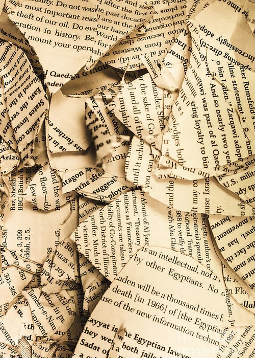 Ripped Up Pages Greeting Card For Sale By Jorgo