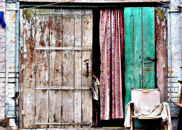 Door Greeting Card featuring the photograph Rishikesh Door by Derek Selander