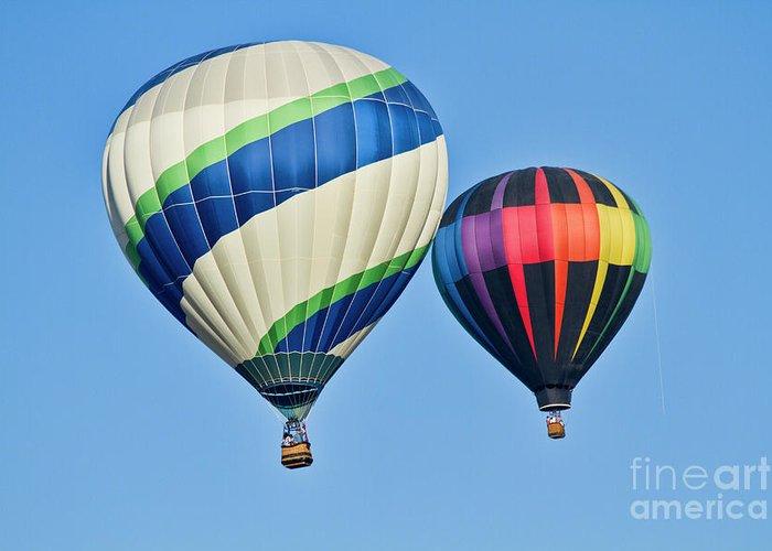 Hot Air Ballons Greeting Card featuring the photograph Rising High by Arthur Bohlmann