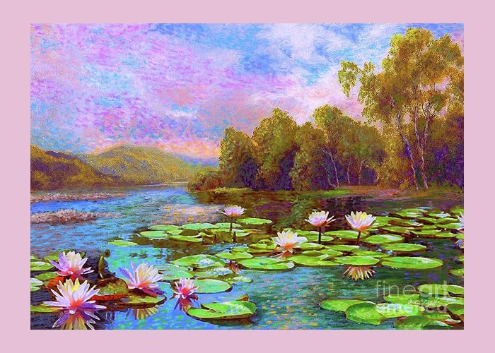 Lotus Leaves Greeting Cards