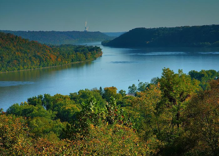 Scenic Greeting Card featuring the photograph River View II by Steven Ainsworth