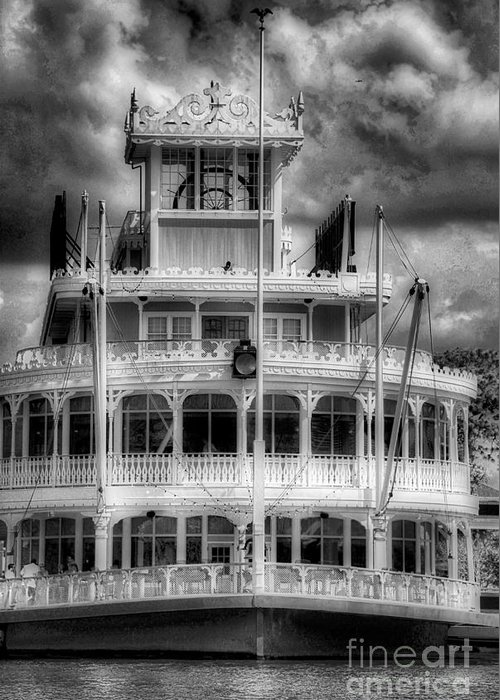 Scenic Tours Greeting Card featuring the photograph Riverboat by Skip Willits