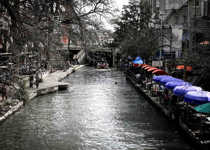 San Antonio Greeting Card featuring the photograph Riverwalk by Shane Rees