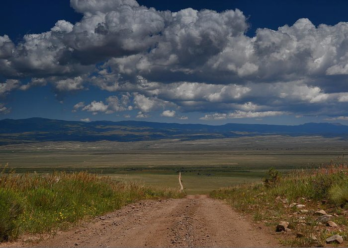 Landscapes Colorado Roads Clouds Greeting Card featuring the photograph Road Sangre De Christo Mts. by K C Lynch