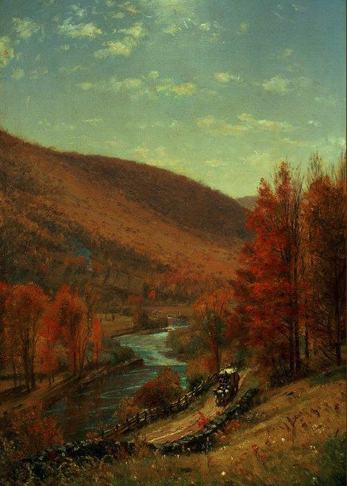 Thomas Worthington Greeting Card featuring the painting Road Through Belvedere by Thomas Worthington