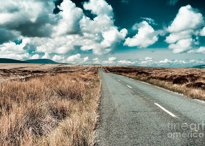 Road Greeting Card featuring the photograph Road To Nowhere by Gabriela Insuratelu