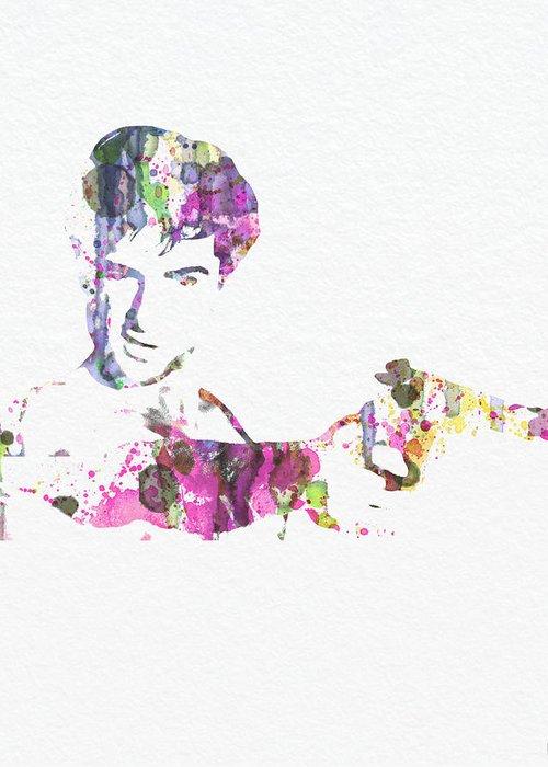 Rober De Niro Taxi Drvier Poster Greeting Card featuring the painting Robert De Niro Taxi Drvier by Naxart Studio