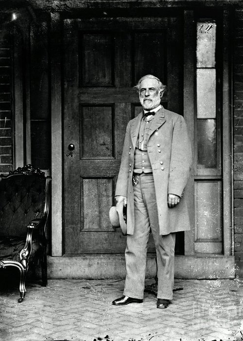 Robert E. Lee Greeting Card featuring the photograph Robert E. Lee In Richmond, Virginia by Photo Researchers