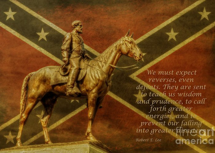 Statue Of Confederate Soldier Digital Art Greeting Cards